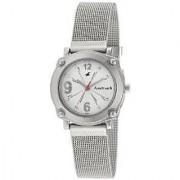 Fastrack Quartz Silver Round Women Watch NE6027SM01