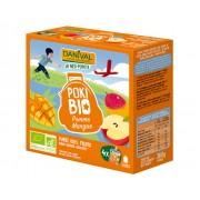 DANIVAL Poki Bio - Pack de 4 Gourdes Pomme Mangue - 4 x 90 g