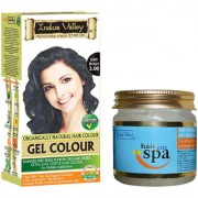 Natural Hair Mask For Dry Fizzy Hairs And Gel Dark Brown 3.00 Combo Pack Of 2