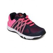 Reebok Women's Meteoric Run Navy, Pink, White and Black Running Shoes - 4 UK/India (37 EU)(6.5 US)