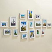 Pinzhi-Marcos de Fotos Marcos de Fotos de para Pared Combinación Foto Pared Sofá casero Fondo Pared Marco Pared Paisaje Dibujo Pared Marco de Madera Marcos de Fotos (Color : White)