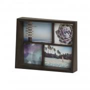 Рамка за снимки UMBRA EDGE MULTI DESK за 4 снимки - цвят кафяв