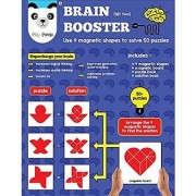 Play Panda Brain Booster Set Two Having 50+ Puzzles To Be Solved Using 9 Different Magnetic Shapes For Boys & Girls Ages 6 - 99