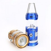 Cos Theta LED Rechargeable And Solar Power Camping Lantern Light 6 LED Solar Camping Tent Lamp