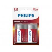 Philips LR20P2B/10 - 2 buc Baterie alcalina D POWER ALKALINE 1,5V