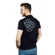 Terratrend Poloshirt mit Aufdruck, Farbe schwarz, Gr.M