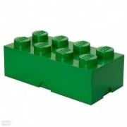 Pojemnik klocek LEGO® z 8 wypustkami (Dark Green)