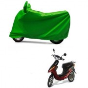 AutoAge Full Green Two Wheeler Cover For Yo Electron