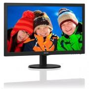 """Monitor Philips 223V5LSB2/10, 21,5"""", W-LED, 1920x1080, 10M:1, 200cd, 5ms, VGA, čierna textúra+tenké línie"""
