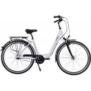 HAWK Bikes Cityrad »HAWK City Wave Deluxe White«, 7 Gang Shimano Nexus Schaltwerk