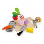 Hape Early Learning Wooden10 Piece Cooking Essentials Food Preperation Playset 3 Years + Hape