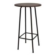 Bárasztal, festett, fém vázas 105 x 60 x 60 cm barna HAILEY