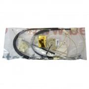 Kit reparatie Mecanism ridicare geam fata Vw Bora Vw Golf 4 5usi electrica fata stanga (cablu role si suport geam) Kft Auto
