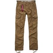 Alpha Rip Stop Cargo Pantalones Verde Marrón 33