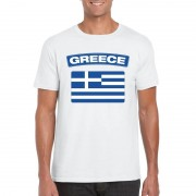 Bellatio Decorations Griekse vlag shirt wit heren