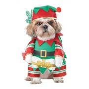 CALIFORNIA COSTUME COLLECTIONS Elf Pup Dog Costume, Medium