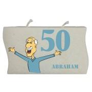 Verjaardagskaars Abraham 50 jaar- model golf