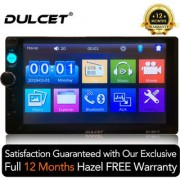 Dulcet DC-9911T Universal Fit Double Din 7 inch Full HD Touch Screen Car Stereo
