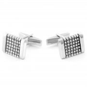 Northern Jewelry Boutons de manchette en argent 925s cloutés