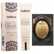Maliao Mousse Matte Cream Foundation With Vivid Gold Highlighter 30 g