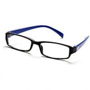 Black-Blue Frame Rectangle Unisex Eyeglasses