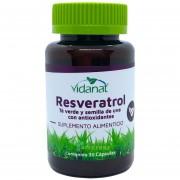 Resveratrol Té Verde Semilla de Uva 30 caps Vidanat