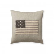 Ralph Lauren Home RL Flag Throw Pillow - Grey - Size: 50 cm X 50 cm