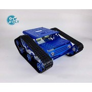 Generic TR300 Tracked Tank Bottom Board Intelligent Vehicle Robot Cross-Country Obstacle Crossing Blue