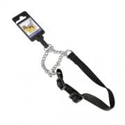 Hundhalsband stryp, justerbart av nylon, svart, 20mm x 35-55cm