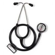 Healthgenie Cardiology Aluminium Double Diaphragm Stethoscope HG-404B (Black)