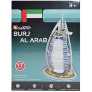 Puzzle 3D Burj Al Arab, 17 piese, Cubic Fun
