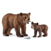 Schleich 42473 Grizzly medve anya és bocs