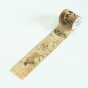 Creative Antique Series Cinco Bueyes DIY Notebook Decorativo Cinta Washi Tape Mano Rasgando Escuela Papeleria De Oficina, Tamaño: 7 * 4cm