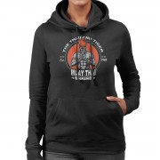 Cloud City 17964 Thailand Tiger Adon Street Fighter Women's Hooded Sweatshirt Svart XX-Large