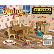 Dining Room 3D Woodcraft Construction Kit