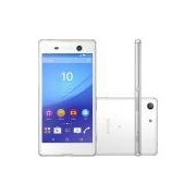 Smartphone Sony Xperia M5 E5643 4G 16GB Tela 5.0 Android 5 Octa Core 2.0ghz 21MP Branco