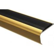 Protectie treapta aluminiu 2500x39x26,5 mm auriu
