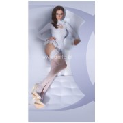 Gatta Wedding Collection - Bridal hold ups with beautiful flower pattern Lavinia