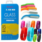 Snaptic 25D HD Curved Edge Tempered Glass with USB Lamp and Waterproof LED Watch for LG Google Nexus 4