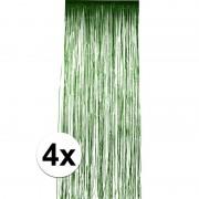 Geen 4x Groen versiering deurgordijn