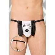 Softline Dog G String Underwear Black/White 4422
