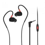 Универсални слушалки (с микрофон) 3.5mm - модел SP93 (черно-червено)