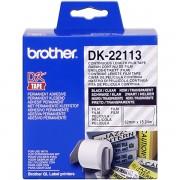 Brother DK-22113 Etiquetas Cinta continua 62mm x 15,24m transparente