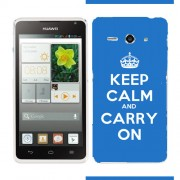 Husa Huawei Ascend Y530 Silicon Gel Tpu Model Keep Calm Carry On