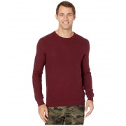 Polo Ralph Lauren Textured Cotton Crewneck Sweater Classic Wine