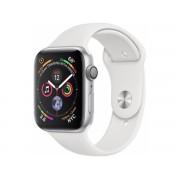 Apple Watch Series 4 Gps, 44mm Srebrny Z Paskiem W Kolorze Białym
