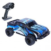 PLRB All Terrain RC Cars, 4x4 Off Road RC Trucks 18 MPH High Speed Racer 1:24 Scale Electric Remote Control Truck(7.9inch)-RC Truggy Shell RC Car for Kids, X-Drive Blue