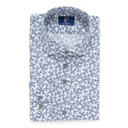 【59%OFF】デザイン柄 ホリゾンタルカラー 長袖シャツ ブルー 42 ファッション > メンズウエア~~その他トップス