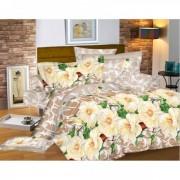 """Спално бельо """"White Flowers"""" Ранфорс - 100% Памук"""