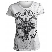 t-shirt hardcore pour femmes - REST IN HELL - AMENOMEN - OMEN122DA